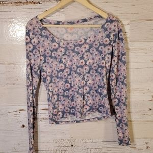 Mudd floral long sleeve top